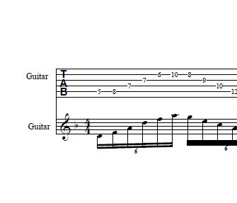 guitar sweep thumb